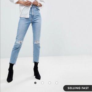 ASOS Design High Waisted Jeans 24